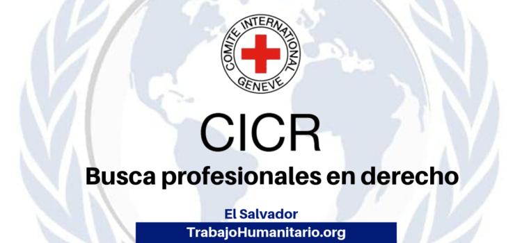 CICR busca profesionales para cargo de Oficial de Garantías Judiciales