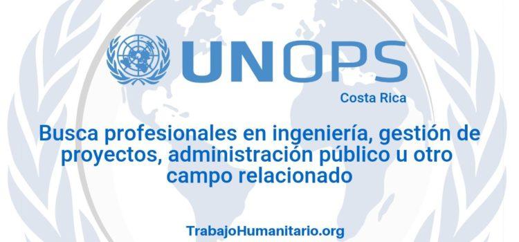 Naciones Unidas – UNOPS busca profesionales para jefe de programa