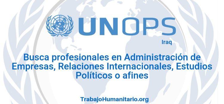Naciones Unidas – UNOPS busca profesionales con experiencia en políticas de seguridad