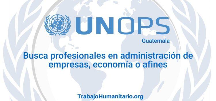 Naciones Unidas – UNOPS busca profesionales para el cargo de Asistente administrativo