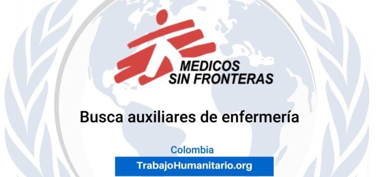 Médicos sin Fronteras busca profesionales para el cargo de Auxiliar de Enfermería