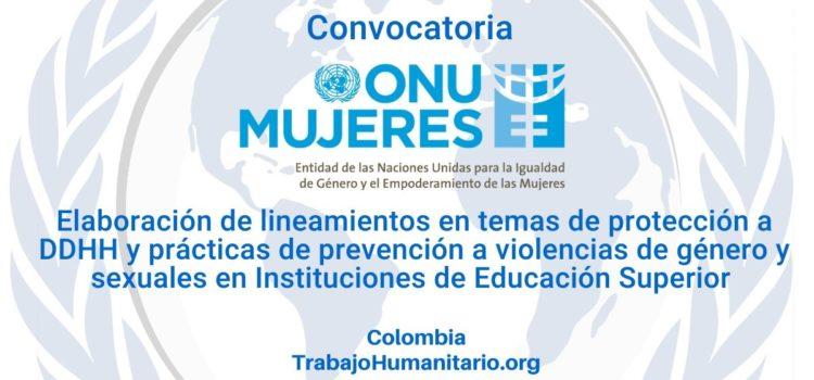 ONU Mujeres abre convocatoria en tema de DDHH y género