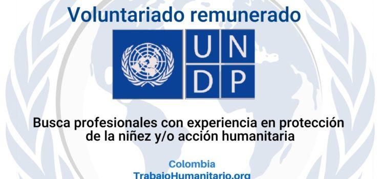 Voluntariado remunerado PNUD-Unicef: Especialista – Protección de la Niñez y Acción Humanitaria