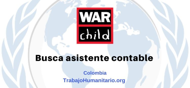War Child busca asistente contable