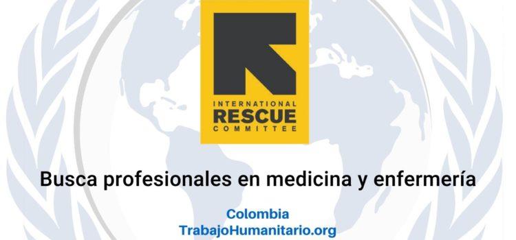 IRC busca profesionales en medicina y enfermería