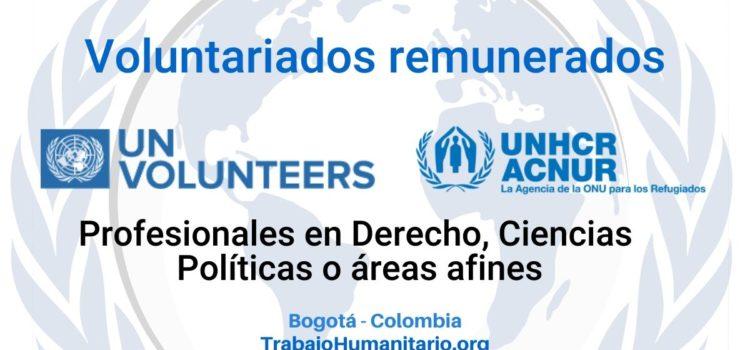 Voluntariados remunerados con ACNUR en Bogotá