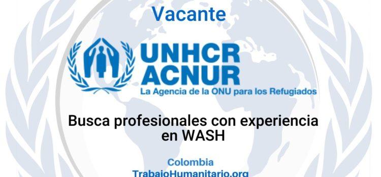 ACNUR busca profesionales con experiencia en WASH