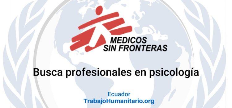 Médicos sin Fronteras busca profesionales en psicología