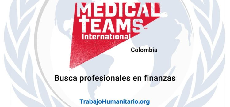 Medical Teams busca oficial de finanzas
