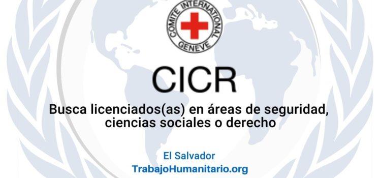CICR busca oficial de programa fuerzas armadas en El Salvador