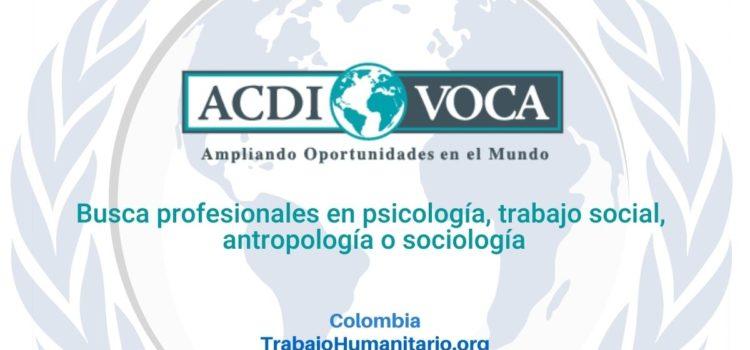ACDI VOCA busca especialista psicosocial para programa WASH