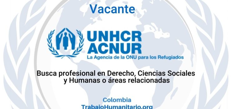 ACNUR busca Child Protection Assistant-Base comunitaria
