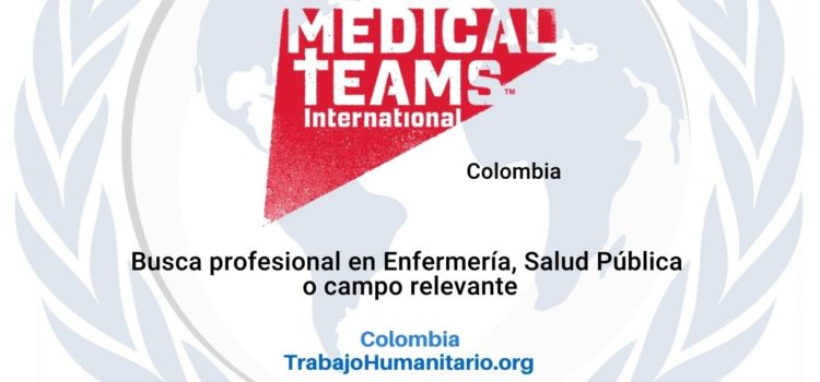 Medical Teams busca Supervisor/a de Salud Comunitaria